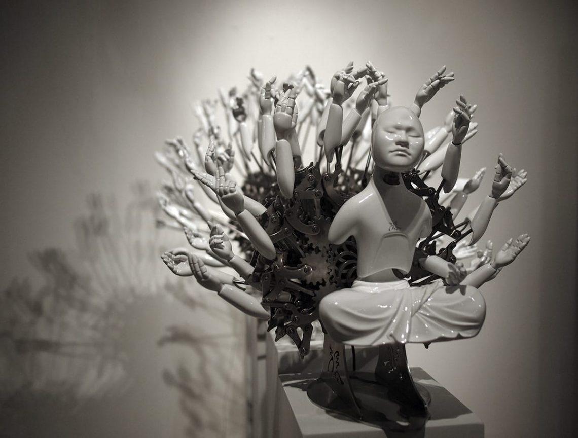 Escultura de Wang Zi-Won.